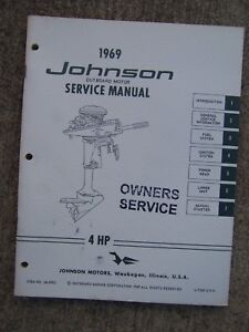 1969 johnson 4 hp outboard motor owner service manual see our store rh ebay com johnson 4 hp manual pdf johnson 15 hp 4 stroke outboard manual
