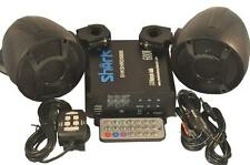600 watt fm motorcycle marine stereo audio system, 3 inch marine speakers Black