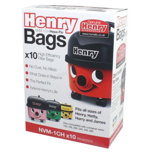 20 x Genuine Numatic NVM1CH vacuum Bag 604015 Bags Henry Micro HVR200M-22 Hoover