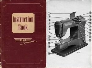 elna supermatic sewing machine instruction book manual ebay rh ebay com Elna Sewing Machine Parts Elna Sewing Machine Parts