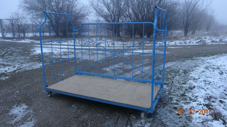 Gittercontainer/Rullebur L240 H185 D115 -Stabelbar
