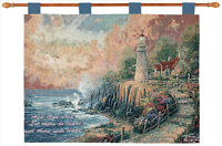 The Light Of Peace Tapestry Wall Hanging W/verse Thomas Kinkade