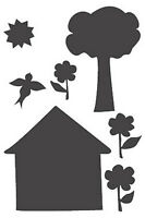 Chalkboard Stickers Murals House Tree Bird Peel N Stick To Wall Removable Play