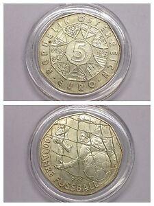 Münze 5 Euro 800er Silber 100 Jahre Fußball österreich 2004 Mit