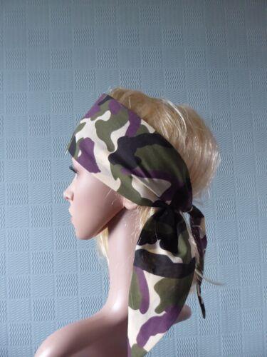 ARMY CAMOUFLAGE HAIR SCARF ARMY CAMOUFLAGE BANDANA COMBAT HEAD SCARF
