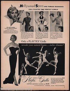 1953-PLAYTEX-GIRDLE-w-Garters-AD-Movie-Star-ZSA-ZSA-GABOR-Photo