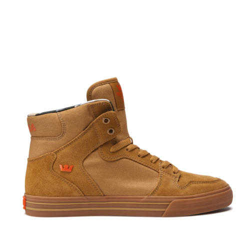 New Supra Vaider Tan Light Gum 08044 278 Skateboarding Casual Shoes 12 by Supra