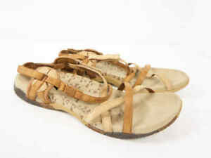 7e42b6796c78 MERRELL San Remo Tan Brown Beige Leather Strappy Sport Sandal Shoes ...