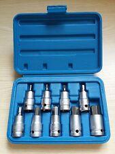 "10Pc 1/2"" Drive Metric Hex Allen Socket Set 4 Ratchet Torque Wrench Bolt Case"