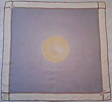 """VINTAGE KITON DONNA ABSTRACT ART SUN BLUE CHAMPAGNE SILK 34""""SQUARE SCARF"""