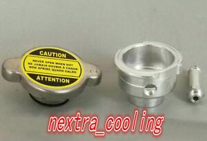 WELD ON ALL ALUMINUM RADIATOR FILLER NECK 1.1 BAR RADIATOR CAP