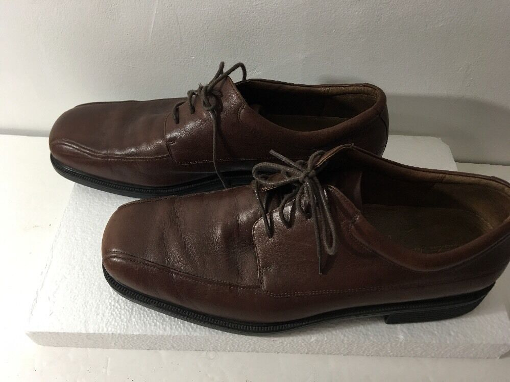 ROCKPORT Signature Series Mens Brown Leather Lace Up Oxford shoes Size 14