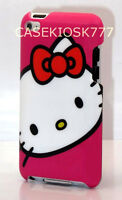For Ipod Touch 4th 4 Th 4g Itouch Hello Kitty Hard Back Case Hot Pink Red White