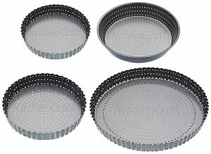 Master Class Crusty Bake Quiche Pie Flan Tins Pans Dish