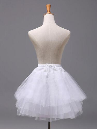 US Kids Girls Flower Girls Wedding Dress Crinoline Slip 3 Layers Net Petticoat