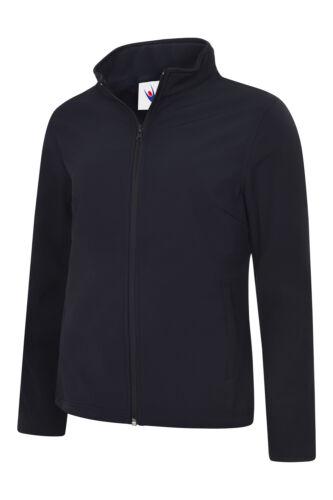 Uneek Womens Classic Full Zip Soft Shell Jacket Ladies Pockets Fleece Workwear
