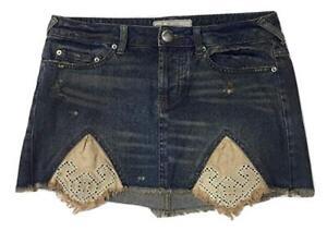 con Distressed Skirt 98 Nuovo Jean People Tire Swing Women Mini Free tag 6 wqYROSxP6