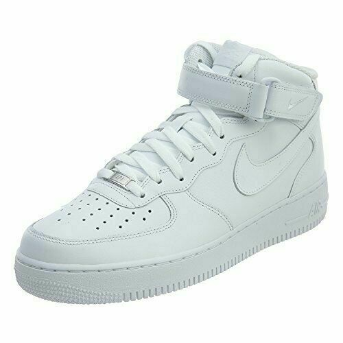 Nike 315123 Size 10 Men's Air Force 1 Mid 07 Trainers - White for ...