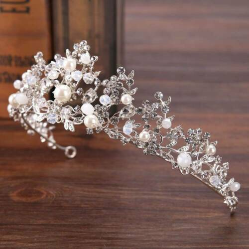 Royal Crown Rhinestone Tiaras and Crowns Pearl Wedding Head Pieces