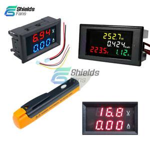 AC-80-300V-200-450V-Volt-100A-LCD-Voltmeter-Ammeter-Amp-Power-Kwh-Panel-Meter