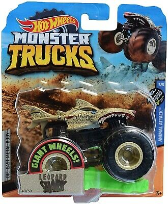 New 2019 Hot Wheels Monster Jam Leopard Shark Monster Truck 1 64 Rare Htf Ebay