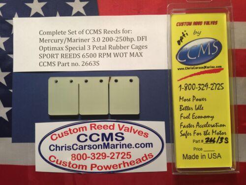 CCMS Mercury//Mariner Sport Outboard Reed 3.0 200-250hp DFI Opti 3 Petal PN.2663S