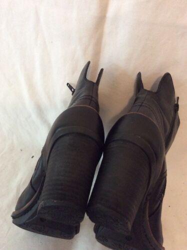 cuero tobillo Botas Clarks de negro tamaño 5d 5 qtw5RwHxnr