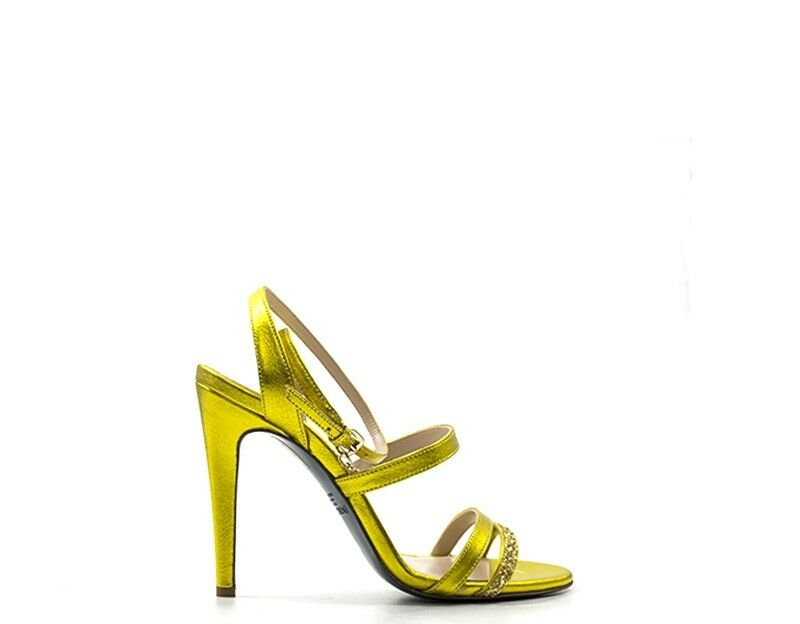 Patrizia pepe woman shoes yellow leather, glitter 2v7855-a3gh-y334
