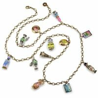 Sweet Romance Vintage Style French Perfume Bottles Charm Necklace