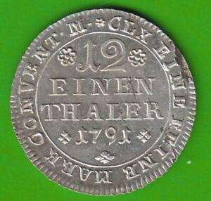 Brunswick-Wolfenbüttel 1/12 Thaler 1791, Good nswleipzig