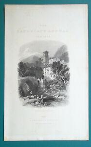 ITALY-Verrex-Val-d-039-Aosta-1833-Antique-Print-Engraving