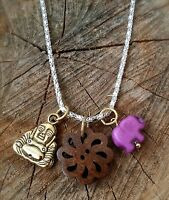 Sacred Circle Of Life Turquoise Ganesh Purple Buddha Necklace Sale