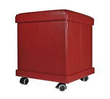 Sitzhocker 37x37x43 Rollbar Sitzhocker Hocker Sitzwürfel Aufbewahrungsbox Rollen