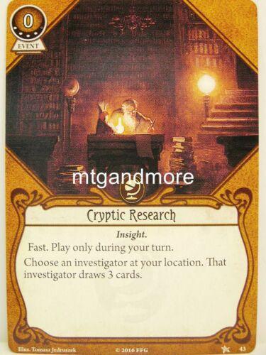 #043 Cryptic Research lvl4 Arkham Horror LCG Base Set