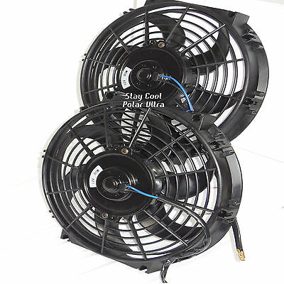 chevy car dual 12 inch electric radiator fans fan relay. Black Bedroom Furniture Sets. Home Design Ideas