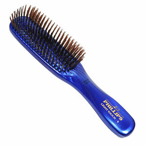 Phillips-Light-Touch-6-GEM-SAPPHIRE-8-034-nylon-bristle-Hair-Brush