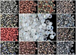 CHOOSE-COLOR-10gr-8-0-cca-350pcs-Etched-Seed-Beads-Czech-Pressed-Glass