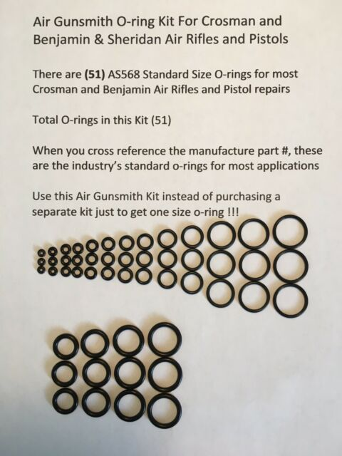 (1) Air Gunsmith's O-ring Kit for Crosman, Benjamin, Air Gun O-rings, O-rings