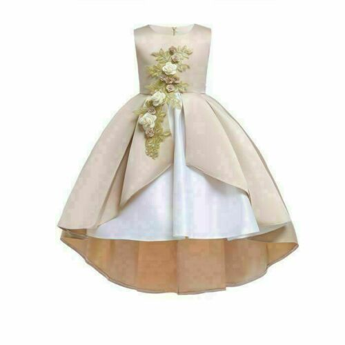 Dresses party bridesmaid girl dress kid princess baby formal tutu flower wedding