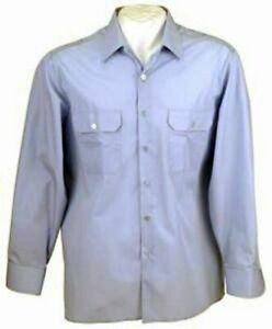 Bw-Mujer-Camisa-de-Servicio-Blusa-Azul-Claro-Manga-Larga-Gebr