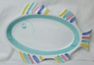 Caleca-Hand-Painted-Fish-Dish-Serving-Plate-Made-In-Italy-9-3-4-x-7