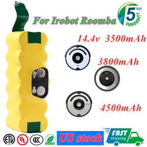 14.4V 3800mAh Ni-MH Replacement Battery for iRobot Roomba R3 500 600 700 800