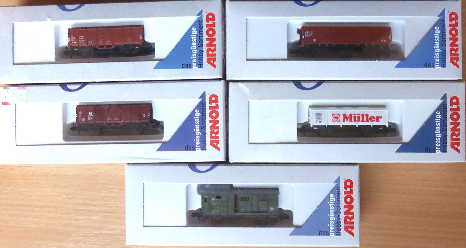 56042425 Arnold N; 5x in OVP, E881 Güterwagen nfkkkm5801-Freight Cars - fans ...