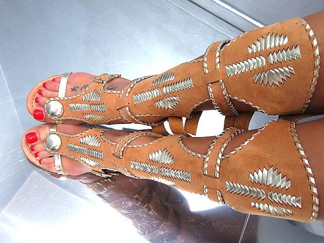 NEU Sommer HOHE Gladiator Stiefel VIP Damen Q26 Sandalen Pumps Schuhe Camel 41  | Online Store