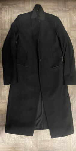 Allsaints Nehru Black Wool Coat 2