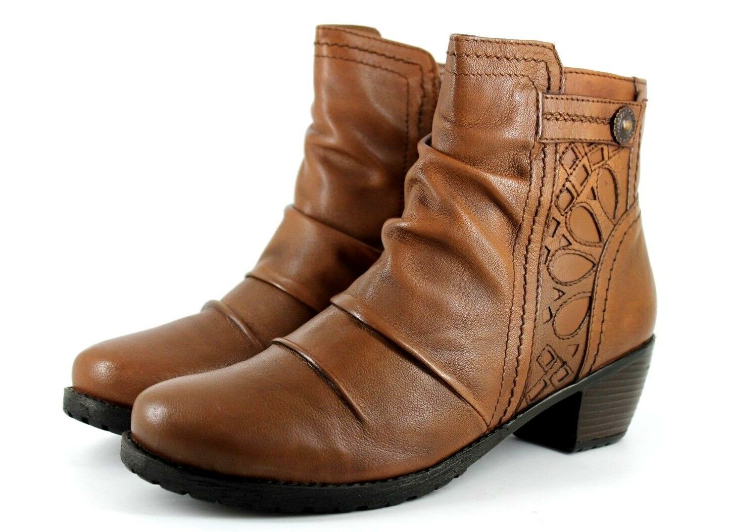 Lotus Maples damen UK 5 EU 38 Tan Leather Zip Up Casual Ankle Stiefel - Marked