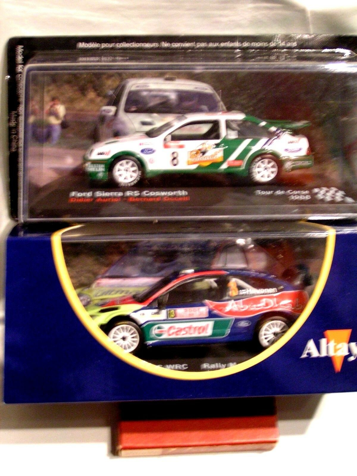 IXO 1 43 -  LOT RALLYE   FORD FOCUS RS + SIERRA RS  ( BOÏTES SCELLEES )