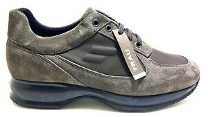 FRAU-24F4-EBANO-scarpe-uomo-pelle-camoscio-nero-sneakers-casual-interactive
