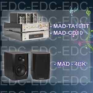 amplificateur stereo lampes tubes usb bluetooth enceintes hifi lecteur cd ebay. Black Bedroom Furniture Sets. Home Design Ideas