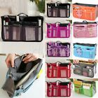 Portable Multi-function Pouch Makeup Handbag In Dual Insert Travel Organizer